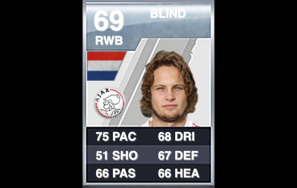 Eerste FIFA-kaart Daley Blind