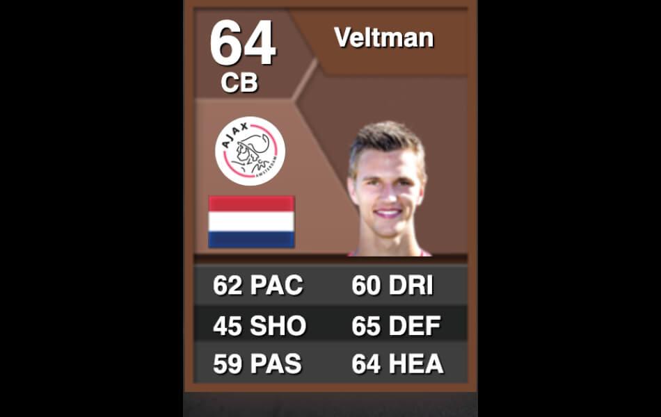Eerste FIFA-kaart Joël Veltman
