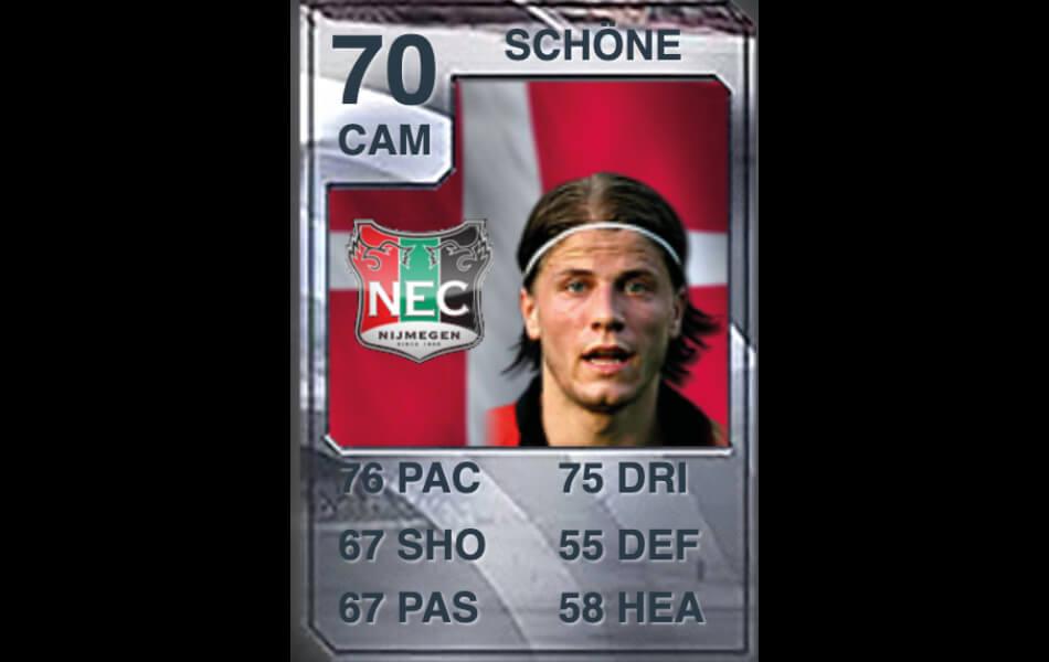 Eerste FIFA-kaart Lasse Schöne