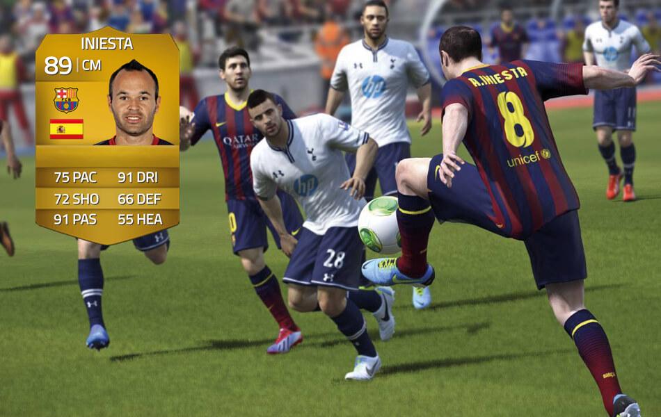 Iniesta in FIFA 14