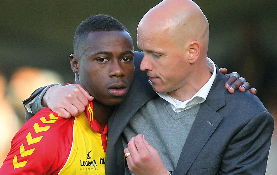Erik ten Hag en Quincy Promes