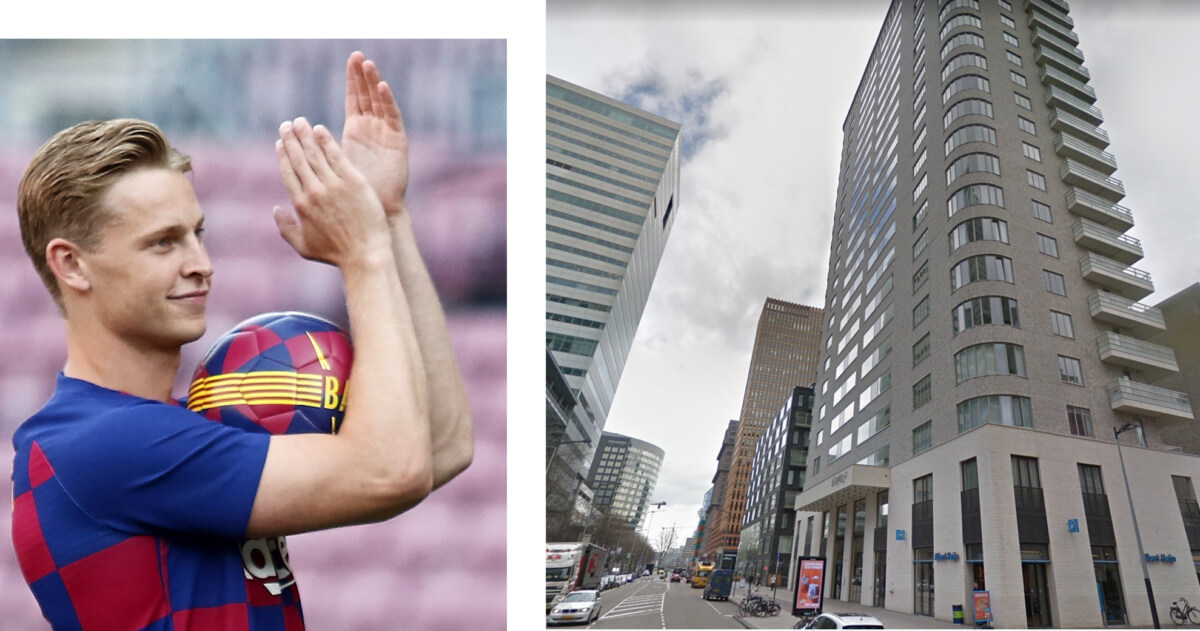 Frenkie zit in Barcelona, maar kocht nog wel luxe appartement in Amsterdam