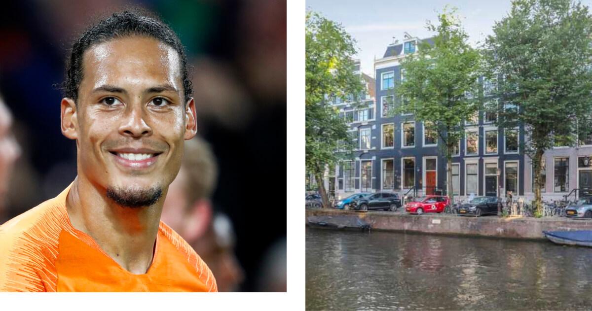 Virgil van Dijk scoort ziek grachtenpand in Amsterdam