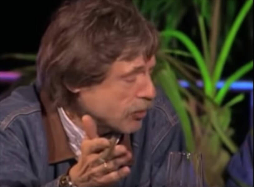 En rookte Johan Derksen nog sigaren op live tv