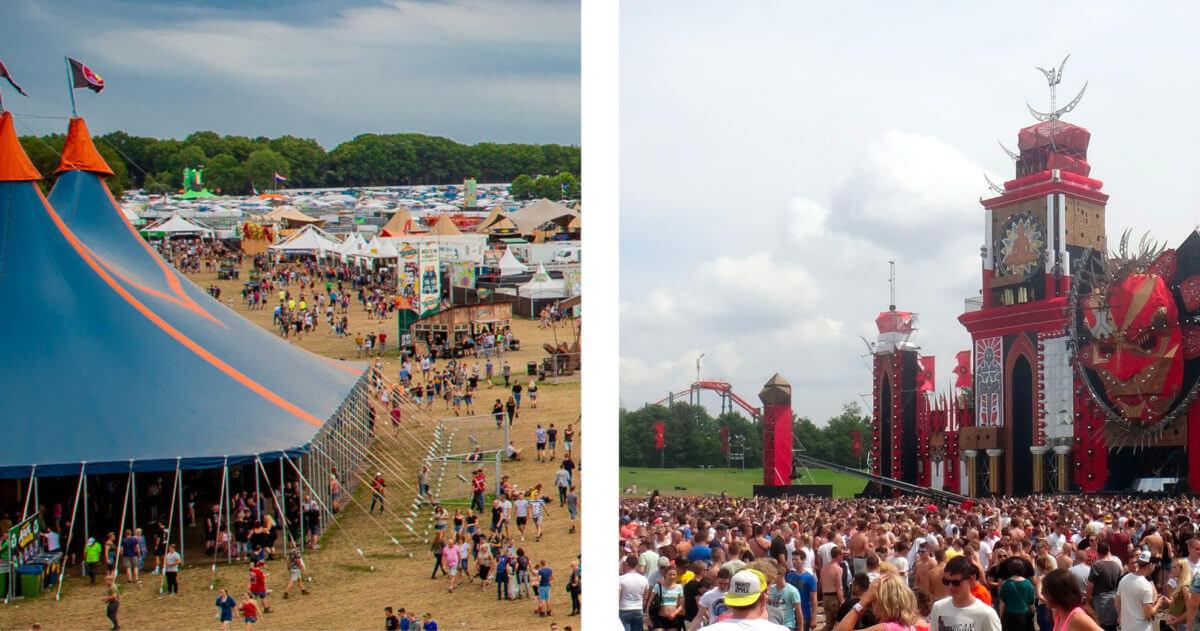 Herken jij deze bekende festivals aan hun festivalterrein?