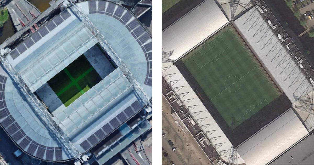 Herken jij deze 11 Eredivisie-stadions van bovenaf?