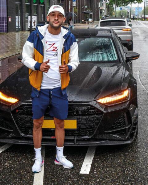 De auto van Hakim Ziyech