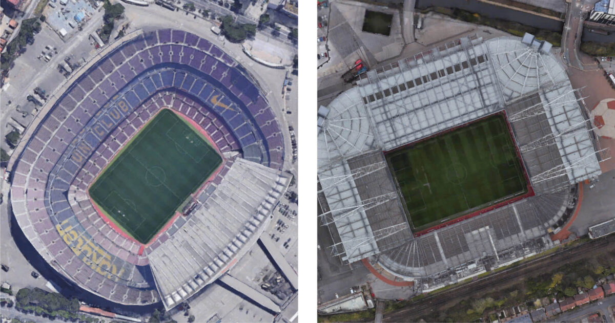 Herken jij deze 10 beroemde stadions van bovenaf?
