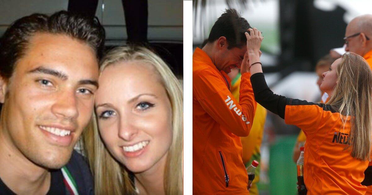 Tom Dumoulin is dolgelukkig met zijn vrouw Thanee
