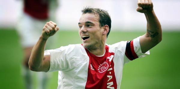 Wesley Sneijder scoort voor Ajax © Pro Shots