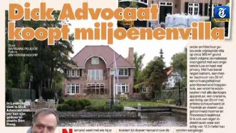 De miljoenenvilla van Dick Advocaat in Privé © telegraafmedia