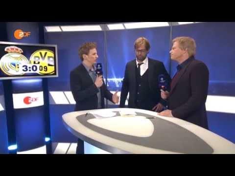 Dortmund-trainer Klopp loopt weg bij tv-uitzending