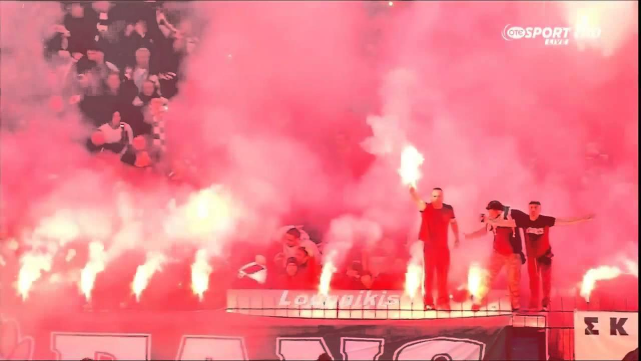 Grieks stadion in lichterlaaie