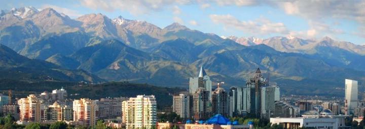 Almaty, de grootste stad van Kazachstan.