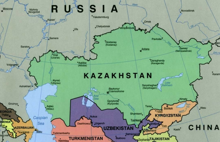 Kazachstan op de kaart