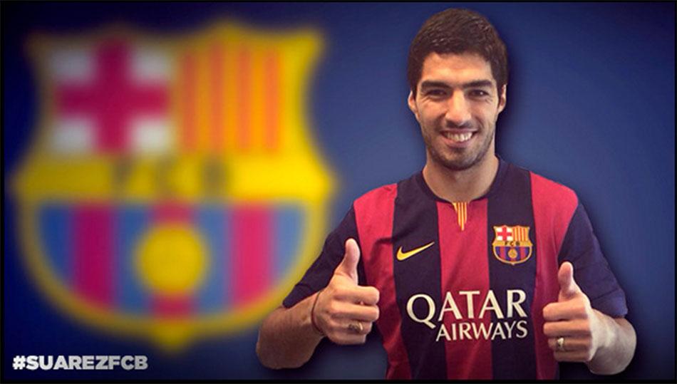 Suarez naar Barcelona