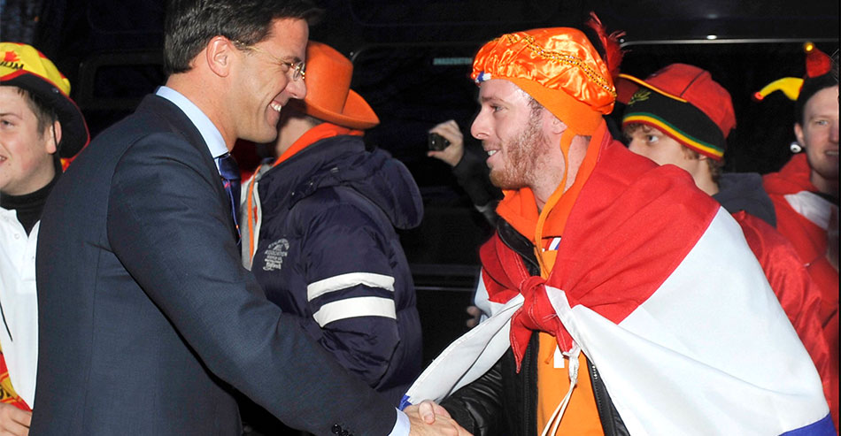 Mark Rutte: 'We winnen van Spanje'