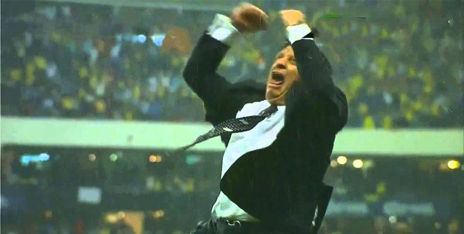 Coach van Mexico juicht als een baas