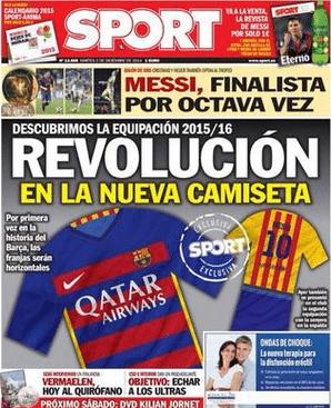 Het nieuwe shirt van Barcelona?