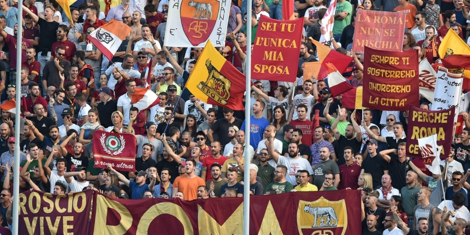 Ook Roma-fans in Amsterdam