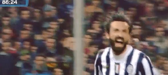Pirlo schiet Juve op weg naar nieuwe titel