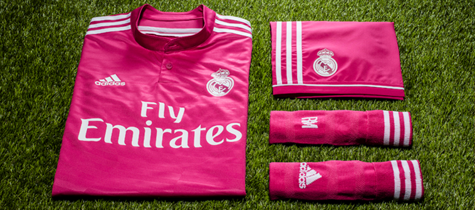 Real Madrid volgend jaar in roze uittenue