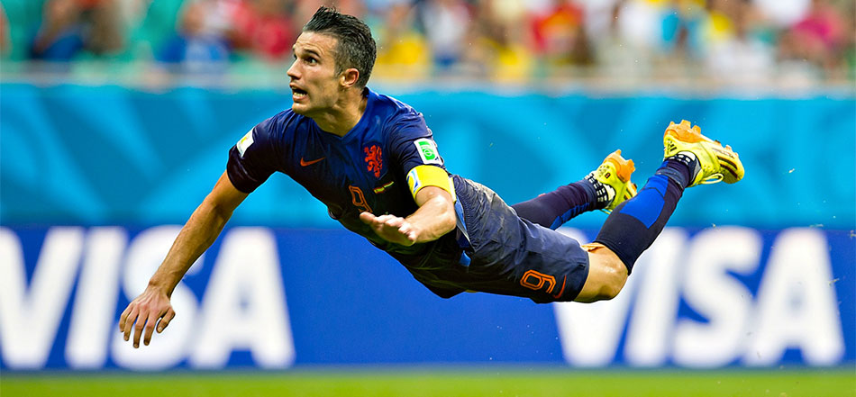 Kopgoal Van Persie niet het mooiste WK-doelpunt