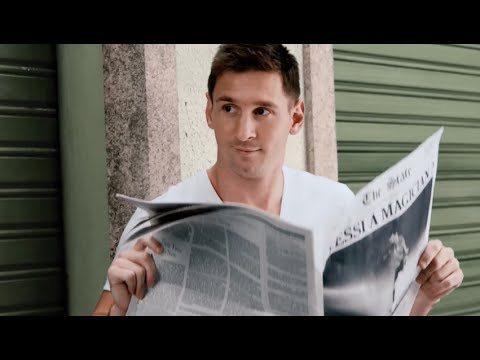 Van Persie met Messi in reclame