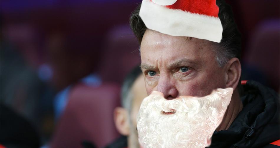 Van Gaal speelt voor kerstman