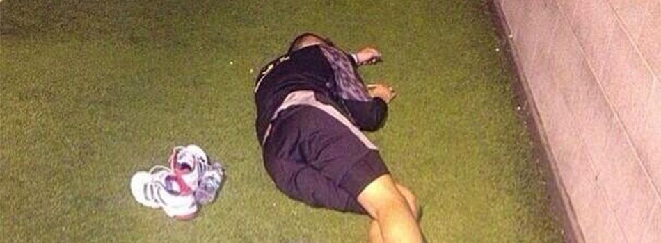 Liverpool-speler valt in slaap op training